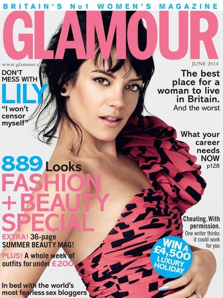 Lily Allen Glamour Magazine 2014