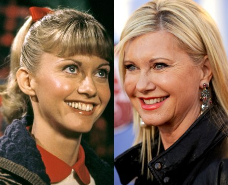 olivia newton john sandy   grease then and now   heart