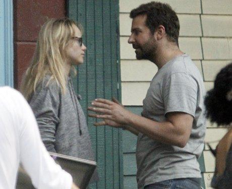 Bradley Cooper and Suki Waterhouse argue