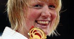 Sarah Adlington with gold medal.