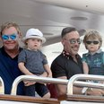 Elton John and David Furnish with their two Childr