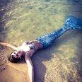 Emily Keat as a mermaid