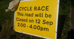Tour Of Britain Road Sign