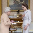 The Queen and Dame Angelina Jolie