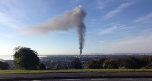 Portsmouth scrap metal fire