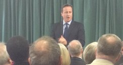 David Cameron speaking at Wainscott Memorial Hall