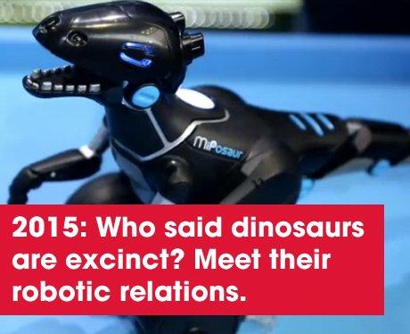 A robotic dinosaur