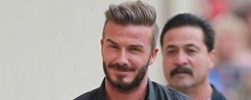 David Beckham arrives for Jimmy Kimmel