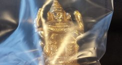 Borehamwood gold statue