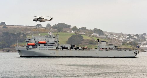 RFA Argus returns to Falmouth after ebola mission