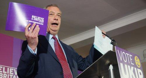 Nigel Farage Manifesto Launch