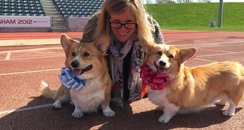 Rachel with Buster and Meg