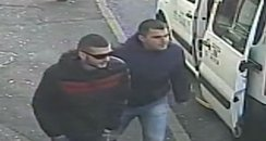 The cctv image of Tony Kurt (L)