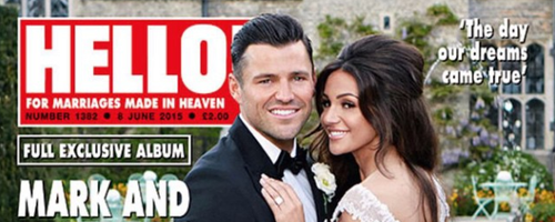 Michelle Keegan and Mark Wright Hello! Cover Insta