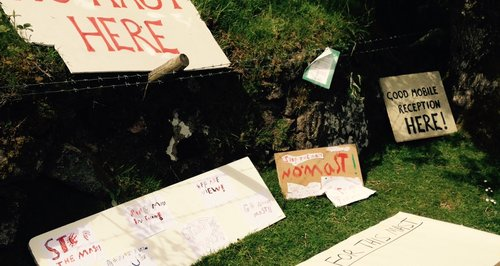 Protests over Dartmoor mobile phone mast