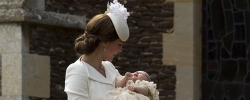 The Duchess of Cambridge at Princess Charlotte's c