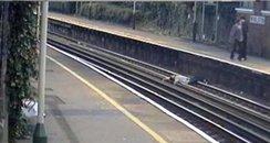 Woolston station Southampton boy on track