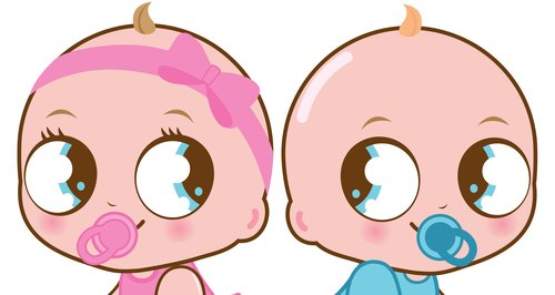 Pink and Blue baby boy and girl