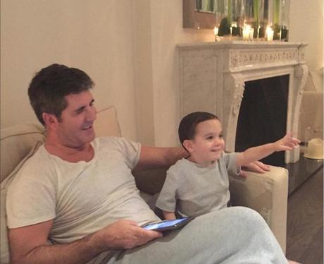 Simon Cowell and Son