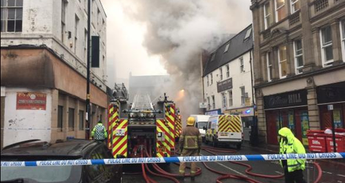 Fire in Newcastle City Centre
