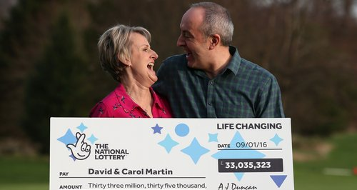 David and Carol Marin lottery winners