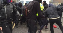 Dover rally clash image (Jan 2016)