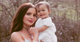 Helen Flanagan Baby boho shoot