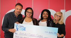 Jamie & Emma Cheque For Barnet Carers