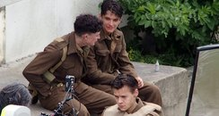 Harry Styles on set of 'Dunkirk'