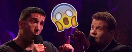 James Corden and David Schwimmer rap battle