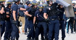 Riot police in Marseille at Euro 16