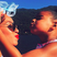 8. Blue Ivy gives Beyonce a kiss during their family holiday.