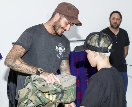 David Beckham Treats Son, Cruz at Kanye West's Pop