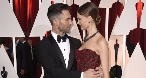 Adam Levine and Behati Prinsloo on the red carpet