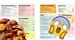 Nando's breakfast menu Gatwick Airport South Termi