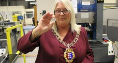 Mayor helps mint commemorative 50p