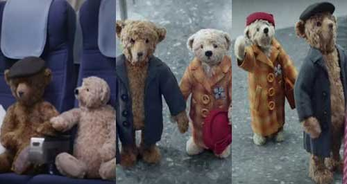 Heathrow bears Christmas advert 2016