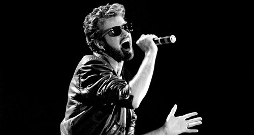 George Michael performing at Live Aid
