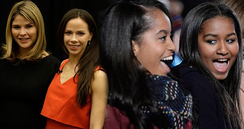 Bush sisters Obama sisters