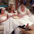 Rachael Monica Phoebe Friends Wedding dresses