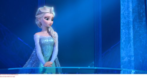 Elsa from 'Frozen' wearing blue
