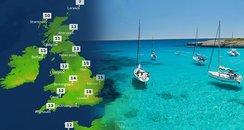 Forget Ibiza! UK Weather To Match Spanish Island..