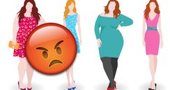 Plus size angry towards simply be