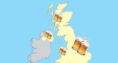 Britain's Booziest Locations Canvas
