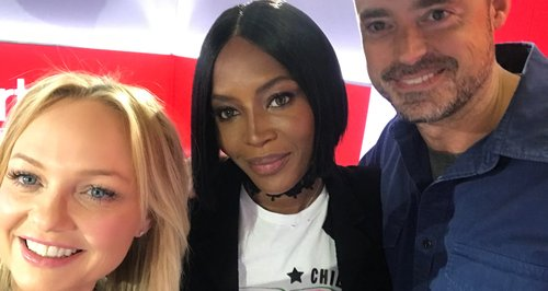 Naomi Campbell With Jamie And Emma