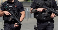 Armed police in Manchester