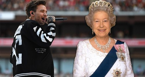 Liam Payne meets the Queen