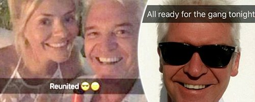 Holly Willougby, Phillip Schofield And Bradley Wal