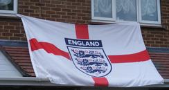 England flag on Bedford house